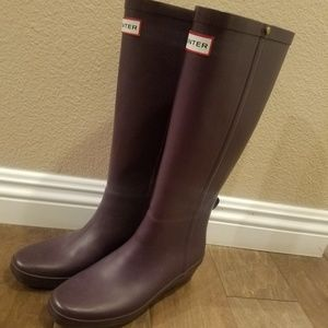 Purple Hunter wedge Rain boots